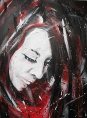 Winterberry - Acrylic painting/mixed media