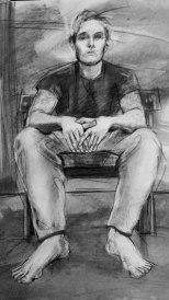 Adam - Charcoal 18x24
