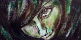 Evergreen - Acrylic painting by Sue Buenger 12x24