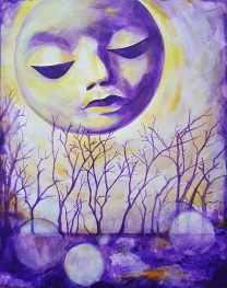 The Moon Sees Me - Acrylic Painting by Sue Buenger 11x14