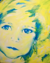 Daisy - Acrylic painting by Sue Buenger 24X36 [SOLD]